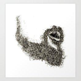 Jazz Beard Art Print