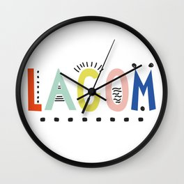 Lagom colors Wall Clock