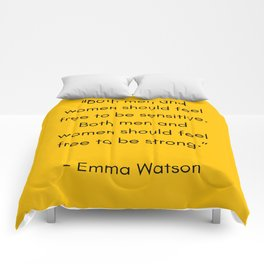 FEEL FREE TO BE SENSITIVE - FEMINIST QUOTE Comforters