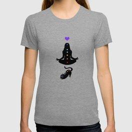 Yoga lady cat T-shirt