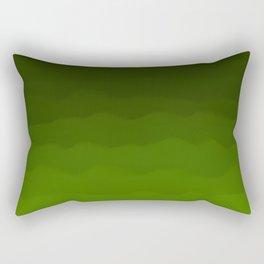 Dark Rich Forest Green Ombre Rectangular Pillow