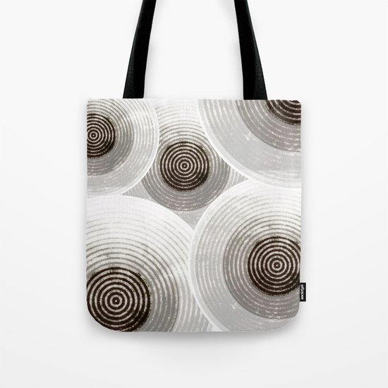 Silver & Black Circles Tote Bag