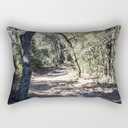 Bicycle pathway in a wood on the island of Porquerolles Rectangular Pillow