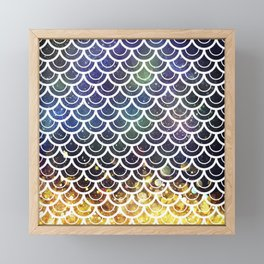 Mermaid Scales Deep Sea Sparkle Framed Mini Art Print
