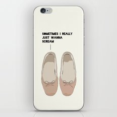 Sometimes I Really  Just Wanna  Scream iPhone & iPod Skin