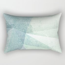 Frozen Geometry - Teal & Turquoise Rectangular Pillow