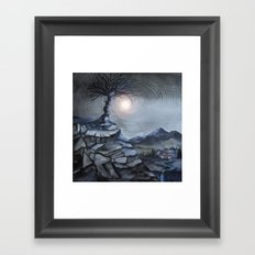 Track 31: The lone tree Framed Art Print