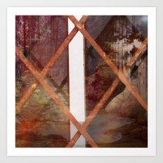 THROUGH BASEMENT WINDOWS Art Print