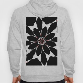 Bizarre Red Black and White Pattern 4 Hoody