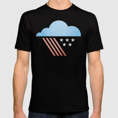 Patriotic Weather. Black LARGE Mens Fitted Tee