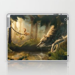 Want a Nut? (Wolf and Squirrel) Laptop & iPad Skin