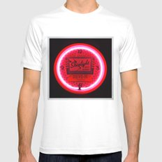 Neon cool Mens Fitted Tee White MEDIUM