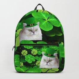 St. Patrick's Day Irish Cat Backpack