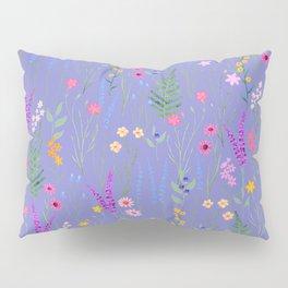 blue meadows colorful floral pattern Pillow Sham