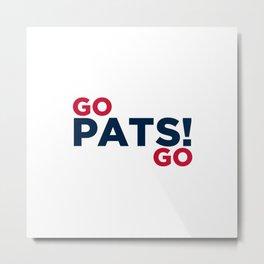 Go PATS! GO Metal Print