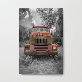 International RC-160 Flatbed Vintage Rusty Truck Metal Print
