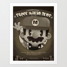 Mario Bros Fan Art Art Print