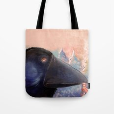 The raven who steals your socks Tote Bag