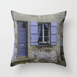 Senlis France Cottage Throw Pillow