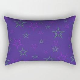 Purple Stars Rectangular Pillow