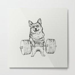 Corgi Lift Metal Print