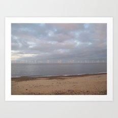 Wind Turbines Art Print