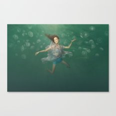 Dancing With Jellyfish Canvas Print
