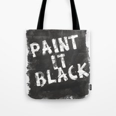 Paint It Black Tote Bag