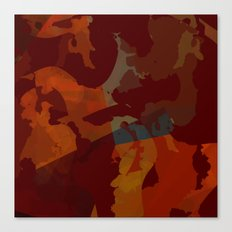 Rust and blue Canvas Print
