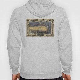Vintage Map of Fresno California (1919) Hoody