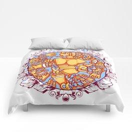 Inca design - Mayan Pinup Simbols Comforters