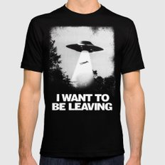 I WANT TO BE LEAVING 2X-LARGE Mens Fitted Tee Black