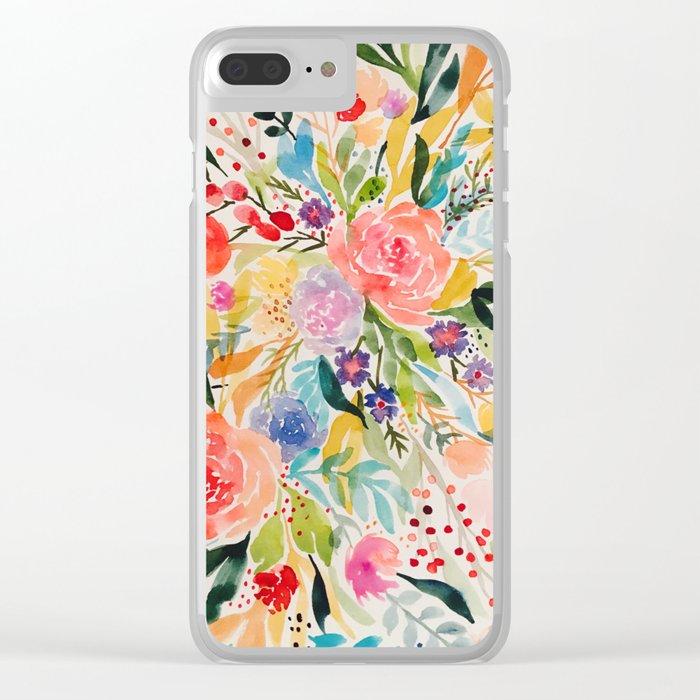 Flower Joy Clear iPhone Case