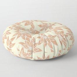 P312020 Floral Caramel Floor Pillow