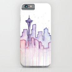 Seattle Skyline Watercolor iPhone 6s Slim Case