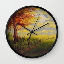 Fall Morning Wall Clock