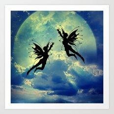 Moon Fairies Art Print