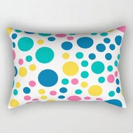 Seamless colorful bright summer circle Rectangular Pillow