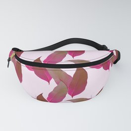 Tropical Leaves in Pink Fanny Pack