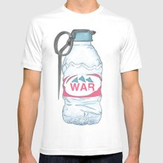 water bottle grenade  MEDIUM Mens Fitted Tee White