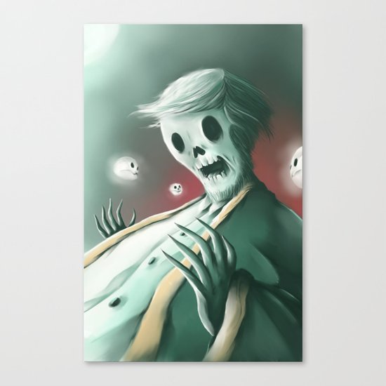 The haunted thoughts Canvas Print