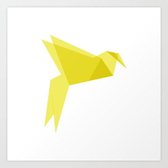Origami Bird Art Print