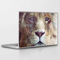 lion Laptop & iPad Skins featuring Lion // Majesty by Amy Hamilton