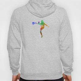Woman soccer player 17 in watercolor Hoody