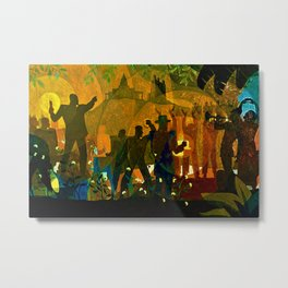 From Slavery thru Reconstruction photograph of the 135th St. WPA Public Mural NY Public Library  Metal Print
