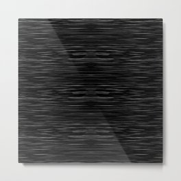 Meteor Stripes - Deep Black Metal Print