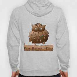 Fluffy Wisdom Owl with Scroll - Wise Beyond Years Hoody
