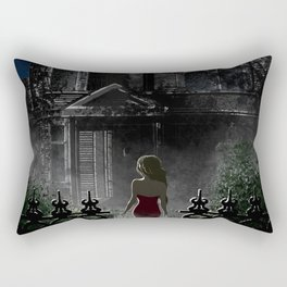 """Old house, """"Red Dress"""" Collection  Rectangular Pillow"""