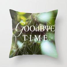 goodbye, time Throw Pillow