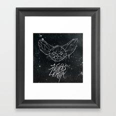FIG. 837 (vulpes zerda) Framed Art Print